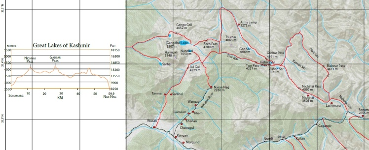 gr8 lakes trek map Depi Choudhry