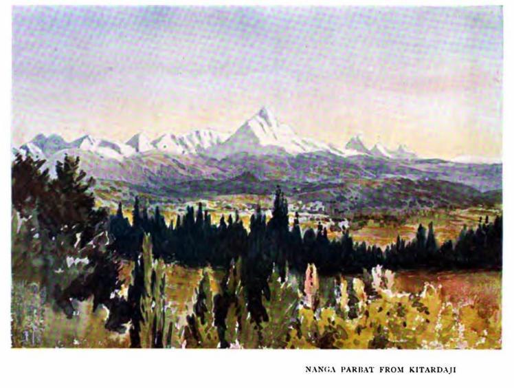 nanga parbat from kitardaji 1907